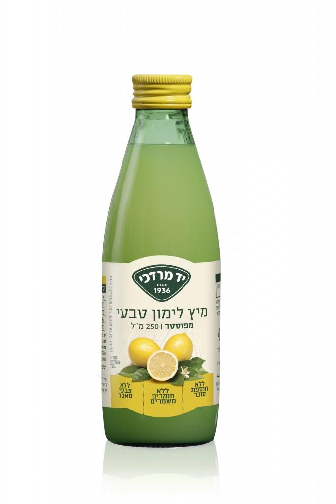 יד מרדכי מיץ לימון טבעי לתיבול ולהכנת משקאות צילום יחצ.jpg