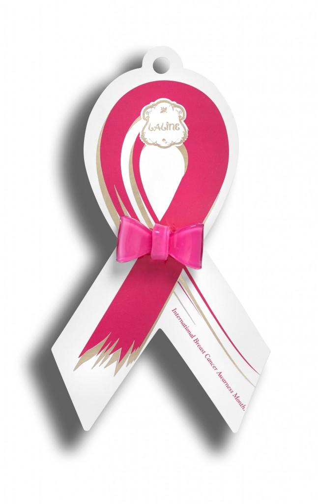 ללין משיקה לקראת חודש המודעות לסרטן השד, טבעת סרט וורודה.